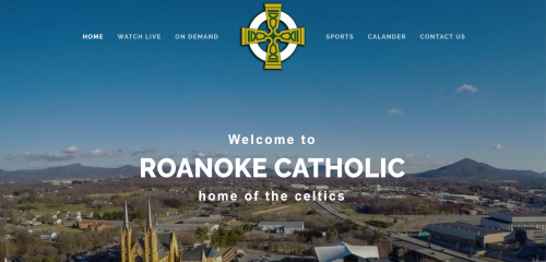 Live streaming video of the Roanoke Catholic High School