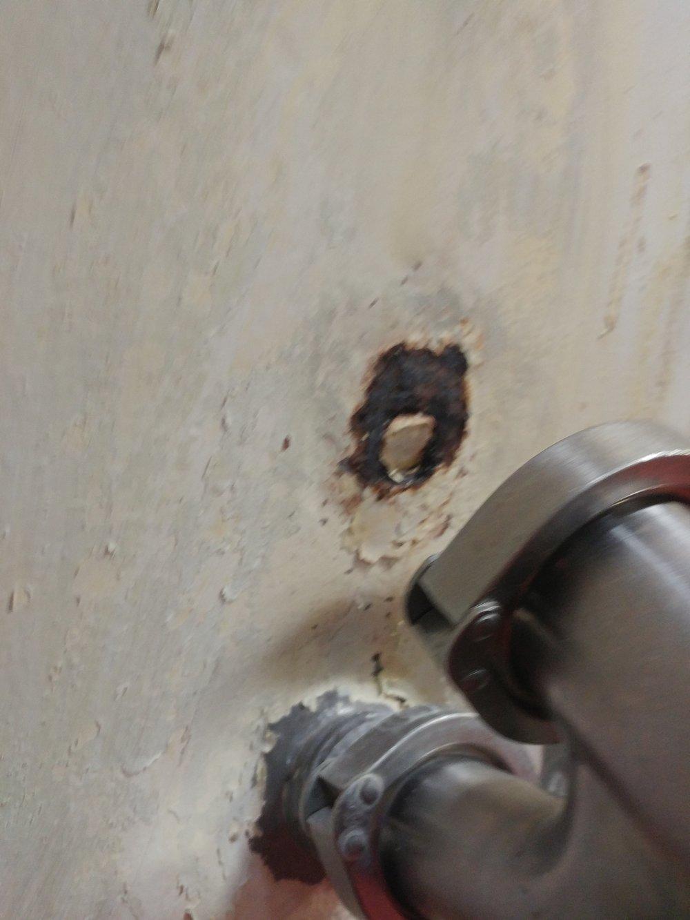 Tank Resurfacing Repair - BEFORE