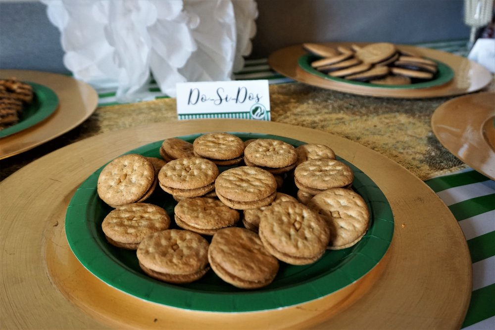 Do-si-dos served as part of a Girl Scout cookie and wine pairing party!