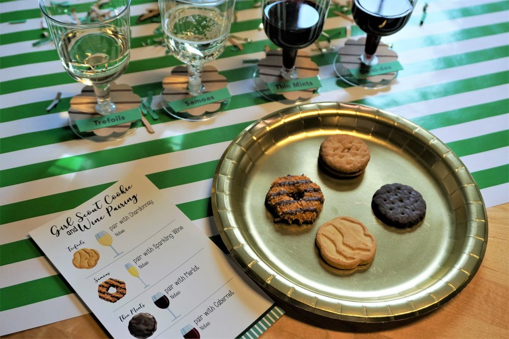 Girl Scout cookie and wine pairing.