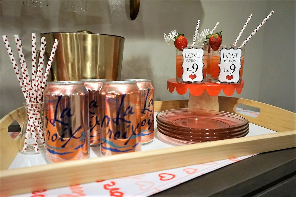 Use LaCroix and a few other ingredients for a Valentine's Day mocktail.