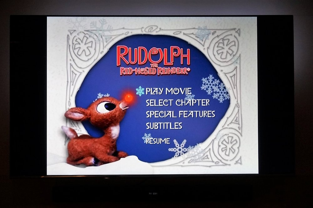 Rudolph the Red-Nosed Reindeer movie night.