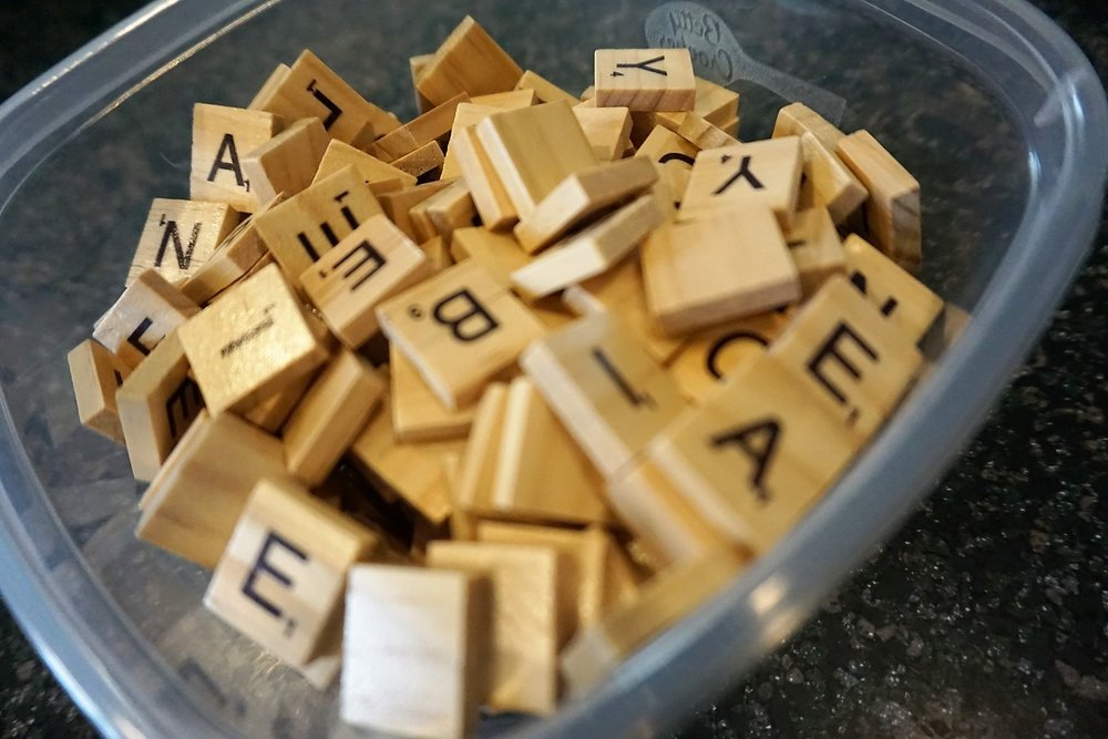 Scrabble tiles make a great craft supply to have on hand for so many projects.