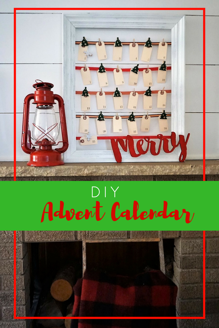 Create your own advent calendar with some simple supplies! Click here for the tutorial and supply list! #christmascrafts #christmasdiy #diyadventcalendar #christmasideas