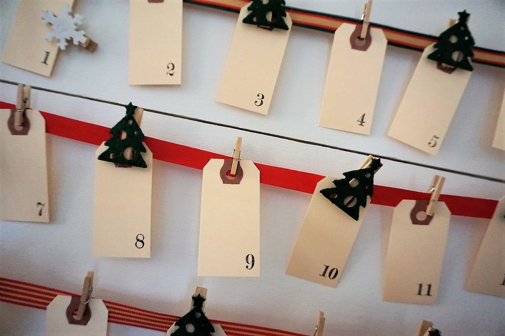 Number stamps can be used for so many craft projects, including this DIY Advent Calendar.
