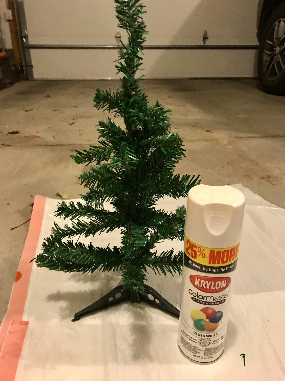 Learn how spray paint can transform this Dollar Tree Christmas Tree into farmhouse decor.