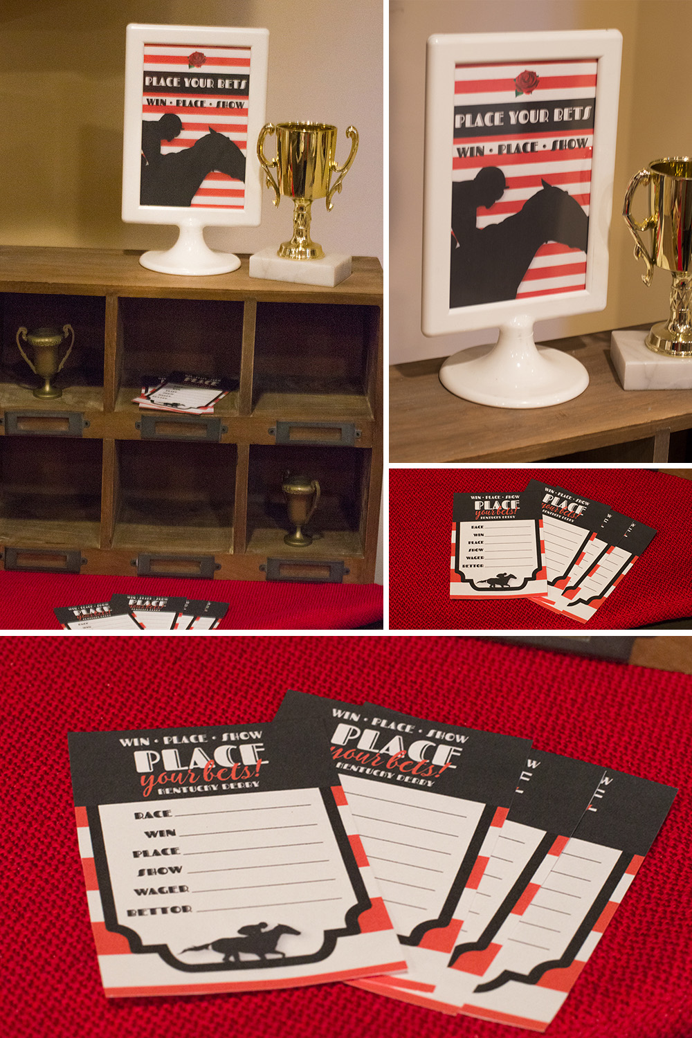Make sure you guests take bets on who will win the Kentucky Derby!