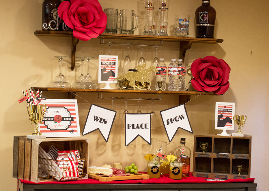 Setup a themed bar for your Kentucky Derby party!