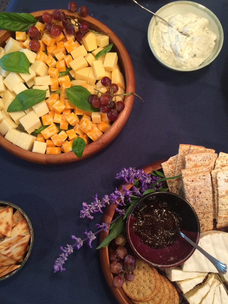Cheese cubes are an easy menu item for a bridal shower.