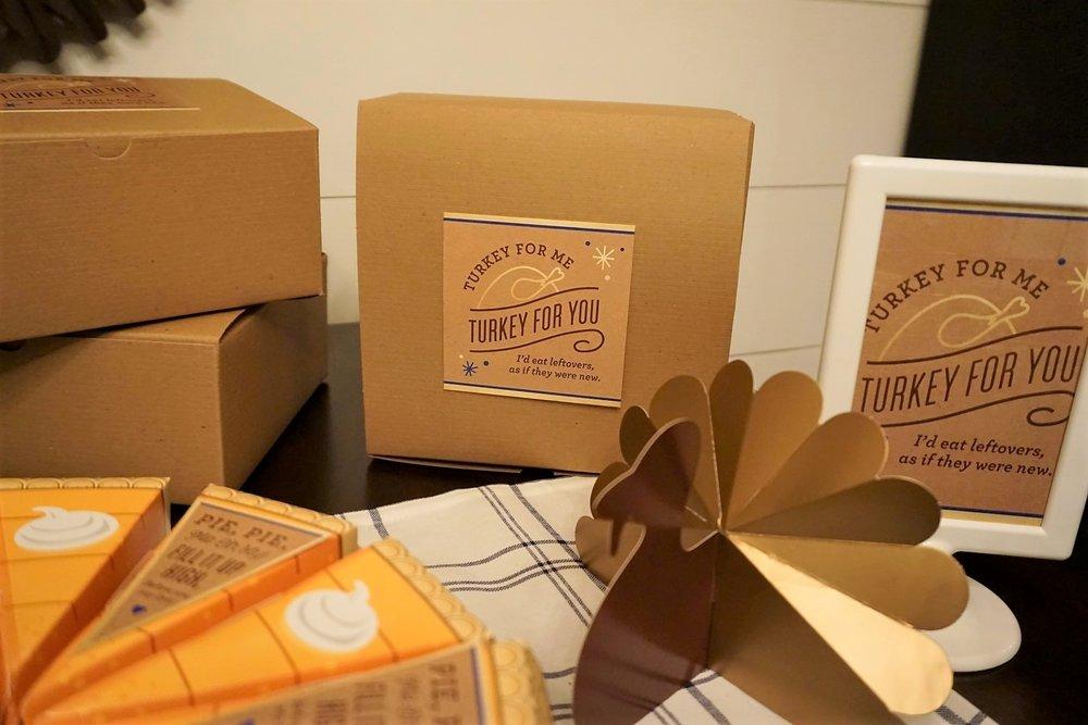 Kraft boxes are great for stuffing full of Thanksgiving leftovers. #thanksgiving #friendsgiving #thanksgivingleftovers