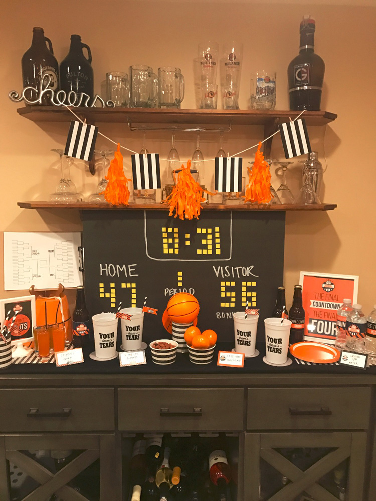 March Madness is more fun with a themed bar for your watch party guests!