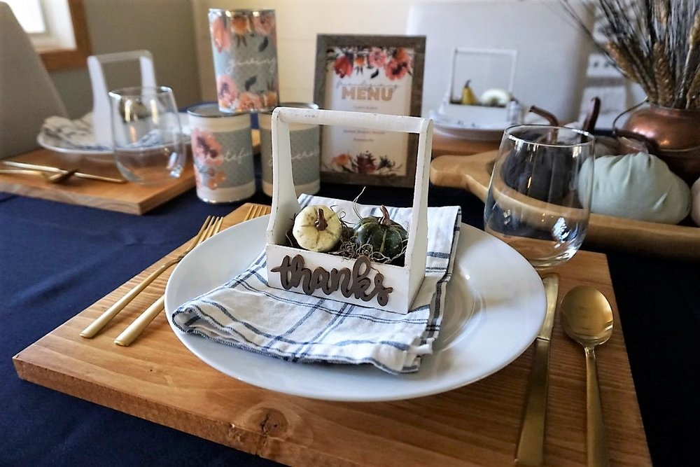 Friendsgiving place setting.