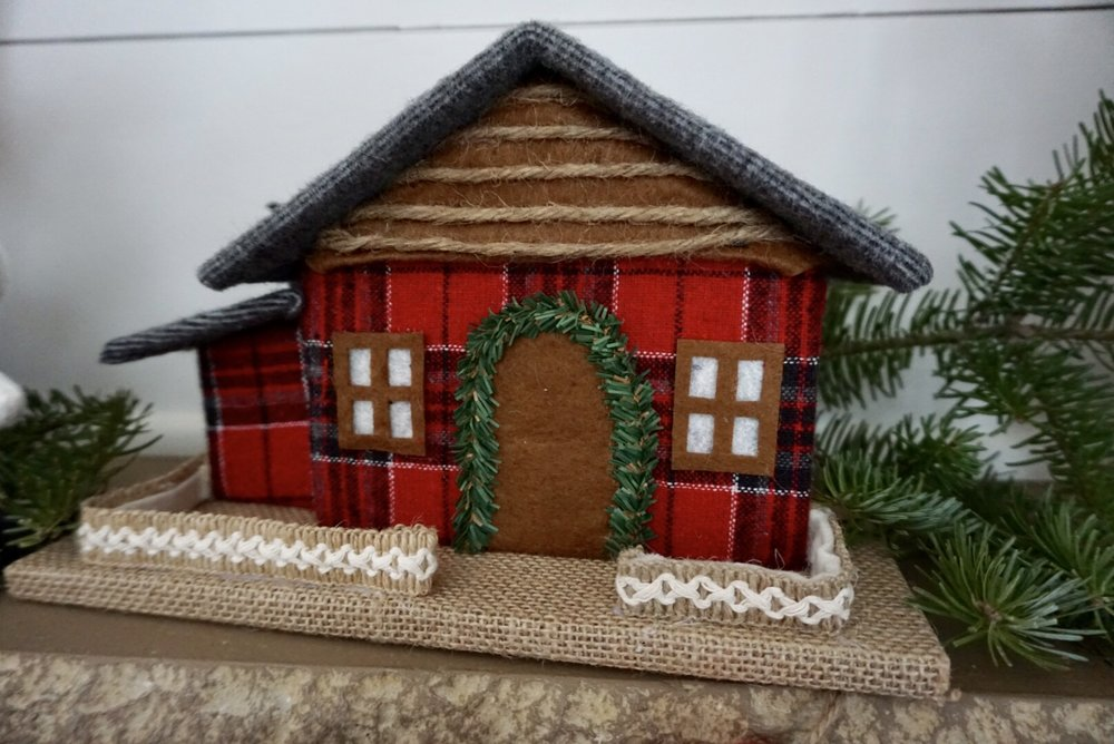 Plaid Christmas house from Walmart.