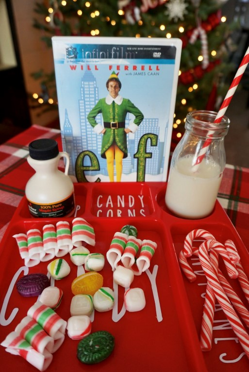 Elf themed movie snacks.