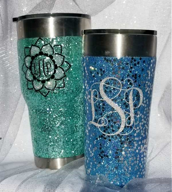 Glitter Tumbler Step by Step Tutorial