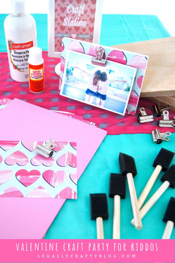 Valentine's Day can be fun for kids with a crafty party! Find a full list of craft supplies and how one of the projects can provide cheer to others by visiting this post! #valentinecrafts #diyvalentines #valentineparty #valentineplaydate