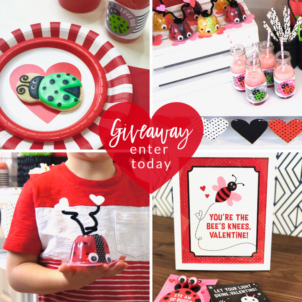 Click here to enter to win your very own Valentine Love Bug Playdate package. #valentinesday #playdate #lovebugparty #valentinesparty #valentinekidscrafts