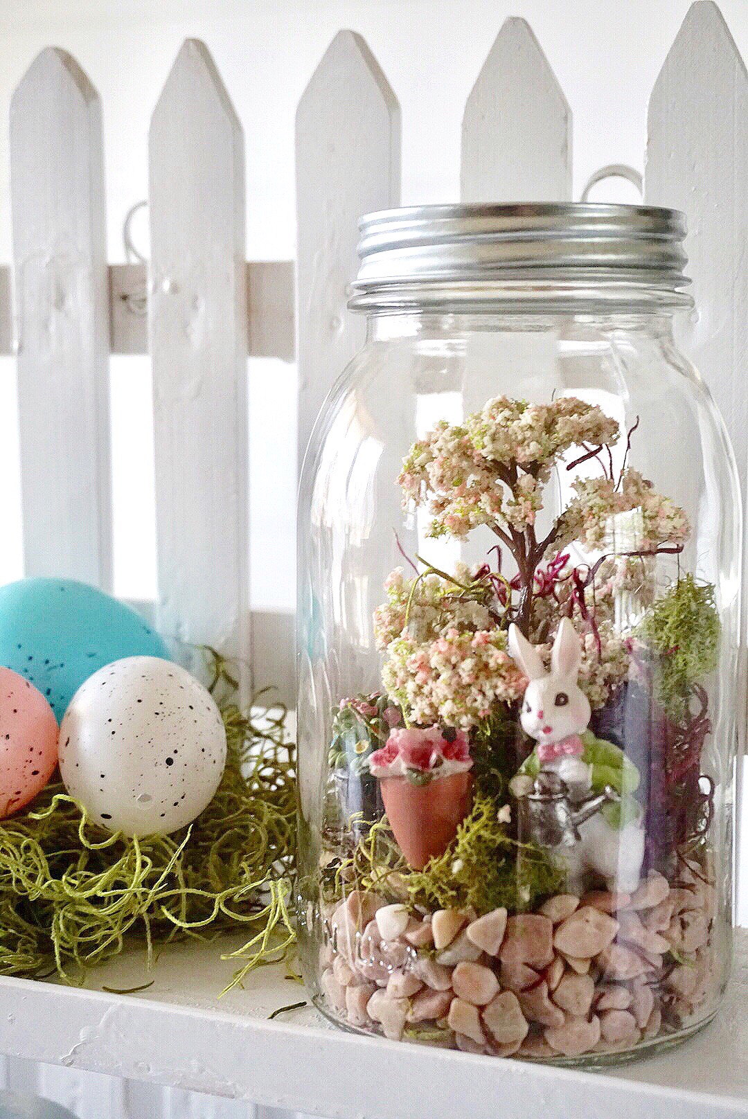 Hop To It A Diy Mason Jar Easter Fairy Garden Terrarium Legally