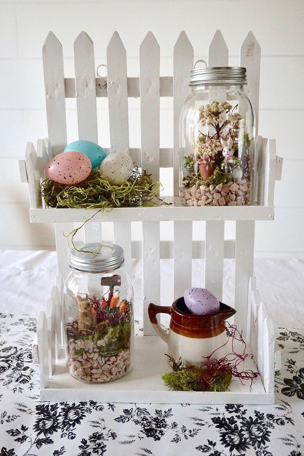 DIY Mason Jar Easter Fairy Garden Terrariums make great Easter host gifts or home decor.