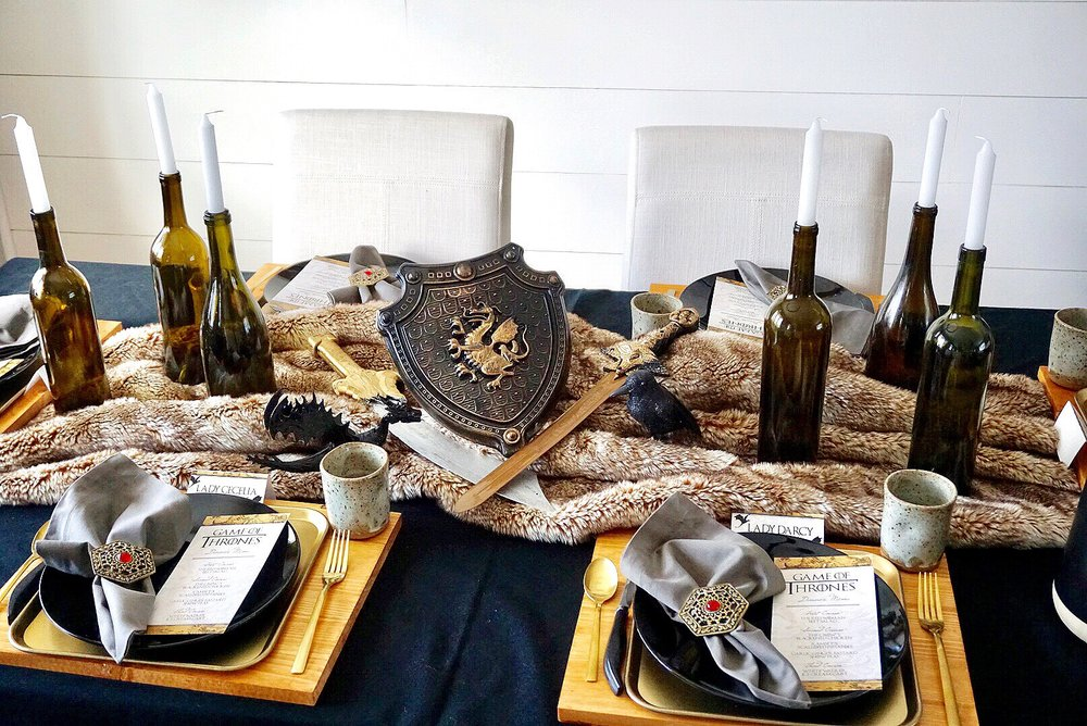 Game of Thrones themed dinner table