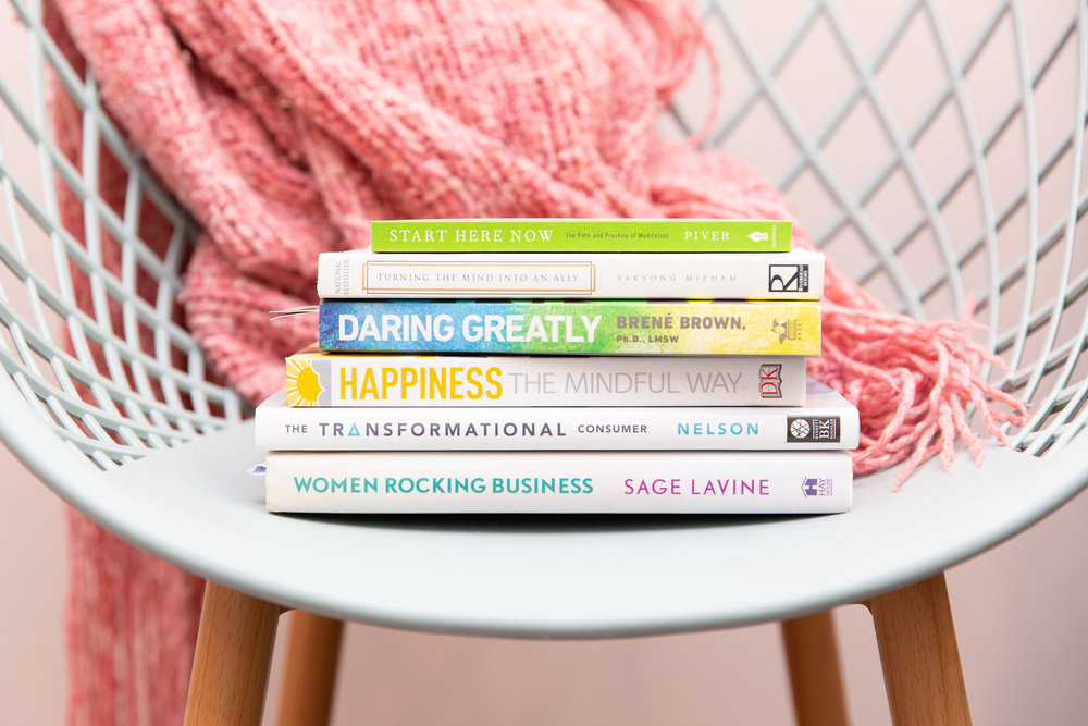 Some of Megan's favourite books for personal development and business development.