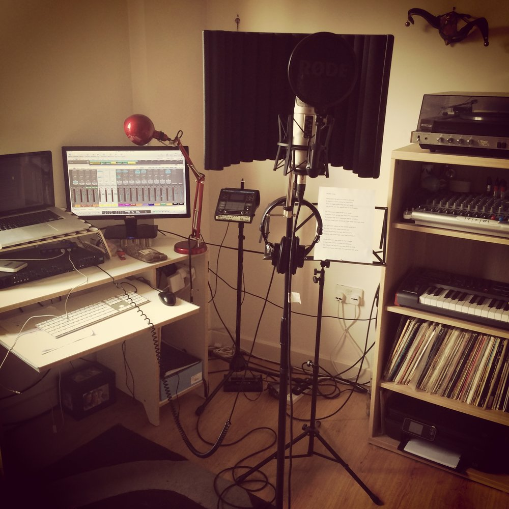 Natali's original home studio where she recorded all the instruments on her  Hands EP, Feral City . The Percussion, Backing Vocals, Acoustic Guitar, Electric Guitars and Bass Guitar sounded anything but small…