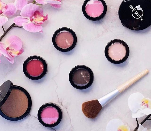 @real.purity makeup is KILLING THE GAME with their line of cruelty free, vegan, non toxic makeup. We are super excited to be carrying them in our store when we launch! The cream blushes are firee🔥 😍