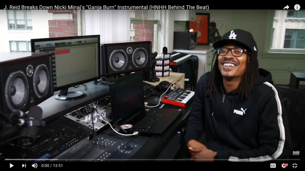 "J. Reid Breaks Down Nicki Minaj's ""Ganja Burn"" Instrumental (HNHH Behind The Beat)"