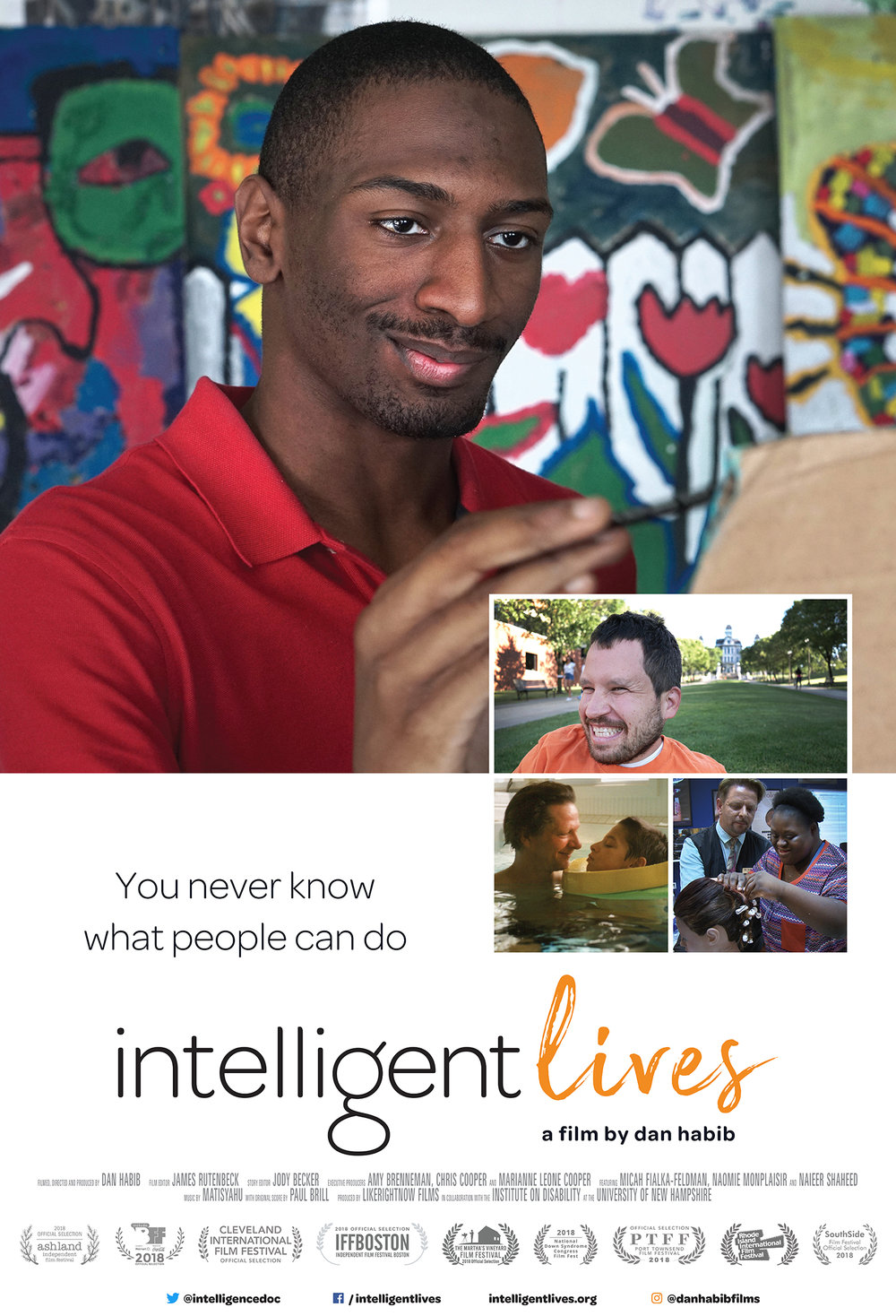 INTELLIGENT LIVES challenges what it means to be intelligent, and points to a future in which people of all abilities can fully participate in higher education, meaningful employment, and intimate relationship. — Lead Sponsors: Natick Special Education Parents Advisory Council (SEPAC), Natick Public Schools, Natick is UNITED, SPARK Kindness
