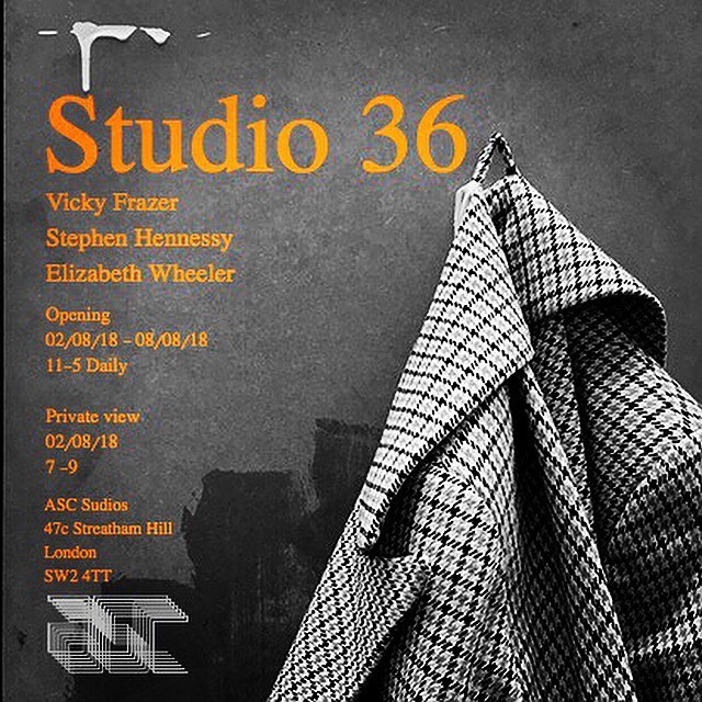 Only a few days away now!.. @vickyfrazer @hennessy_stephen #ascstudios #london #painting #art #exhibition
