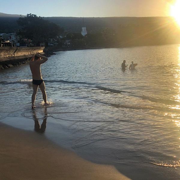 Odyssey Open Water Swimming Founder Warren Wallace in Kona, Hawaii
