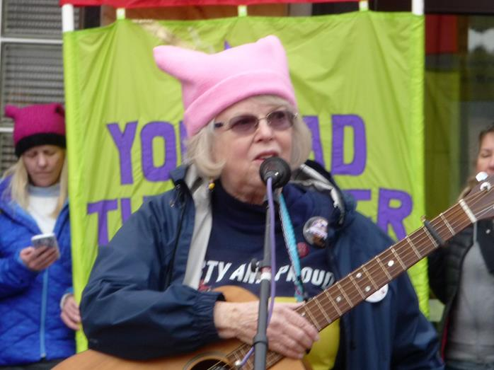 Singing at the Women's March, 2017
