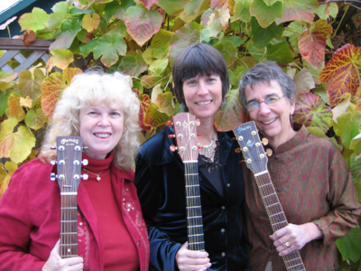 Tracy Spring, Marie Eaton and I were in a group together:  Women who Run With Song ! Great friends and collaborators. They also lended their talents to my recordings.