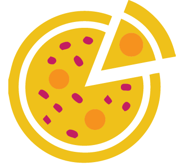 3 large pizzas