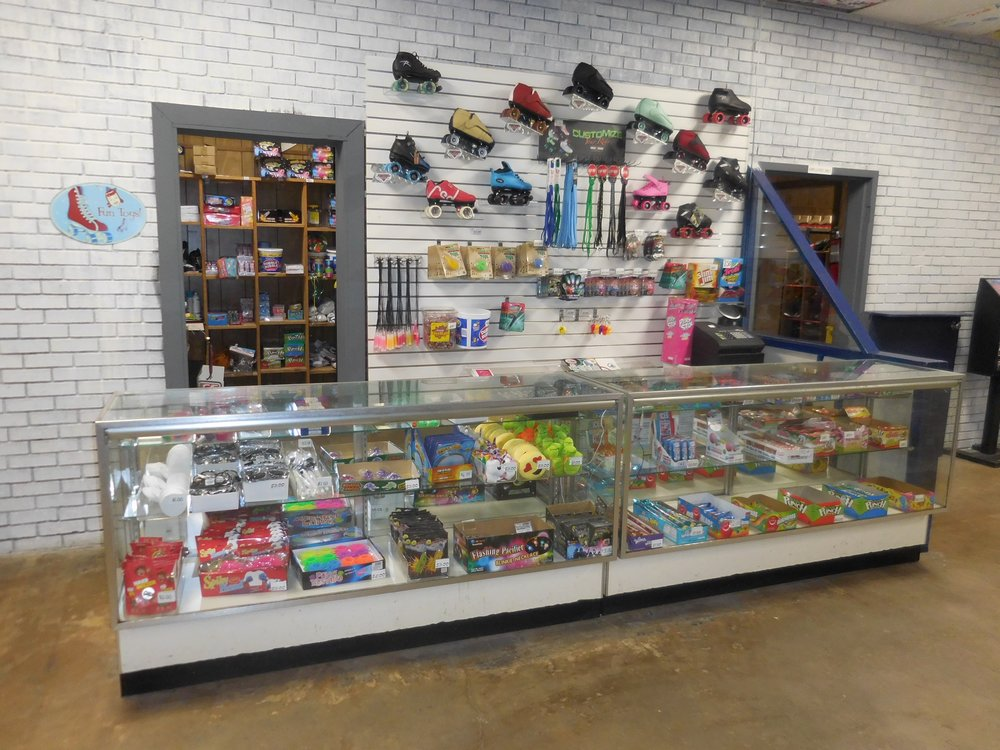 You can also visit The Stuff Shop! This is where we sell candy and lots of great novelties. Don't forget to check out our catalog of some of the best skates. Pick out your favorite pair and we'll place the order for you.
