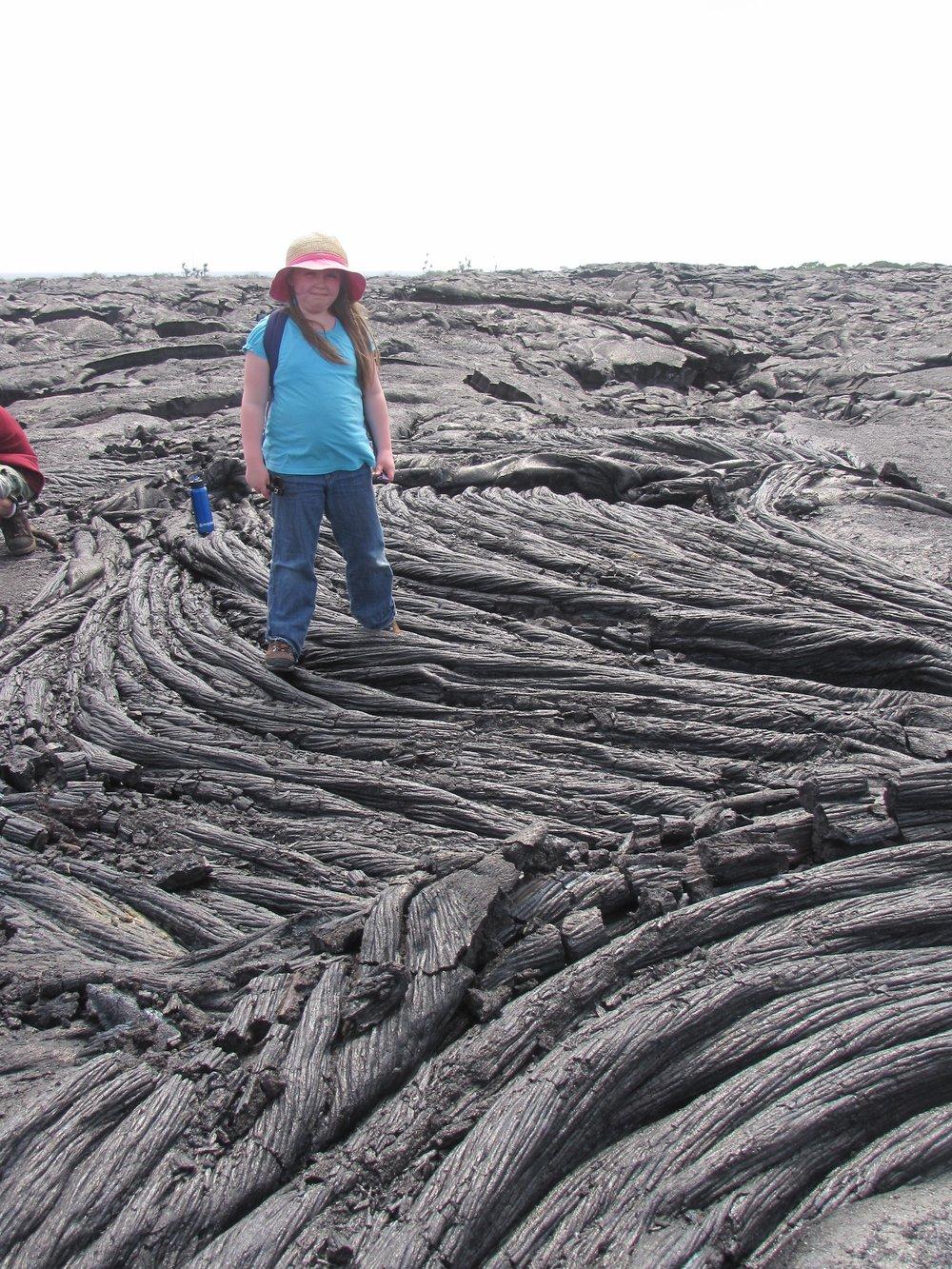HawaiiColleenLavaFlow.jpg