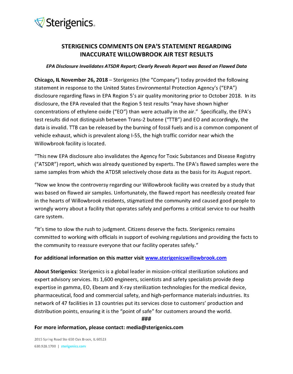 Sterigenics Statement on EPA Flawed Test Results 11.26.18.jpg