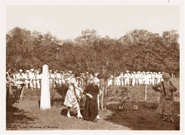 Dedication of the Vaughan Obelisk