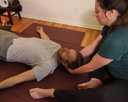 intraoral massage - \\
