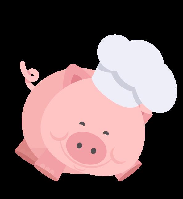 Piggy is an expert muffin and cake baker -