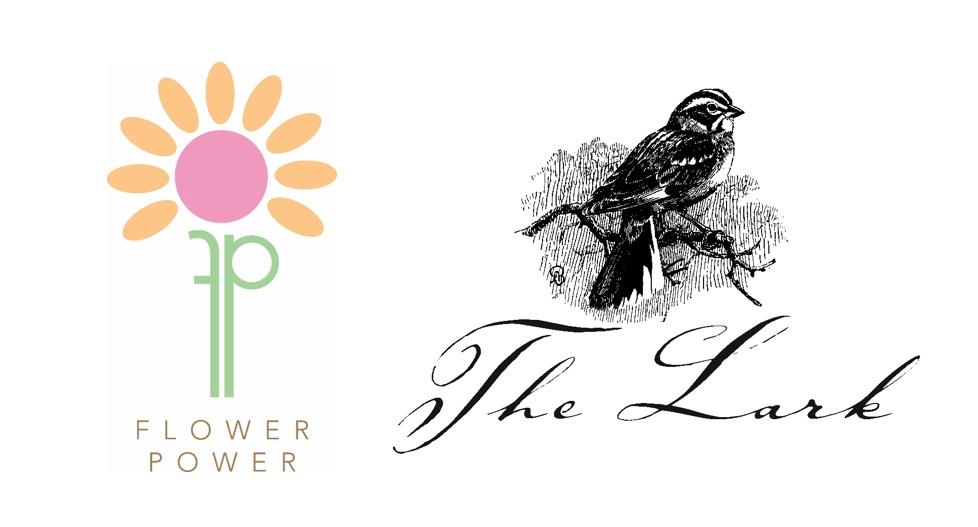 Flower Power and Lark Logos