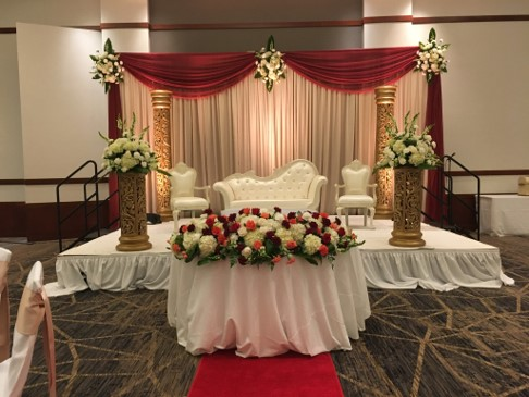 Tasnim, Bride - Utsav planners made my wedding more beautiful than I imagined! From day one they were very accommodating and willing to work with me at each step. Bianca was incredible and extremely responsive to my many emails and questions. She was constantly in contact throughout the process and made sure that everything they were providing was exactly what I wanted, as well as offered suggestions and feedback. She even helped me the day of the wedding by sending me photos of what the decorations and reception hall looked like as they were setting up! The entire team was flexible and helped me stay in my budget while putting extra effort in to make my vision a reality. I can't say enough about my amazing experience with Utsav - and our guests are STILL talking about the decor a month later! Thank you!!