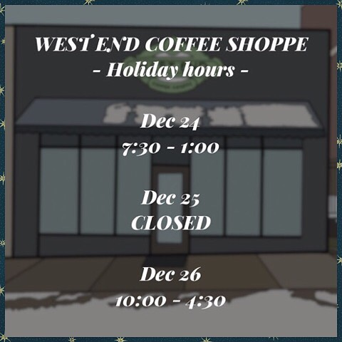 Merry Christmas from your friends at West End Coffee Shoppe! ☕️ ☕️ ☕️ ☕️ ☕️ #westendcoffeeshoppe #freecoffee #mondaymorningfuelup #westendneighbors  #yeahthatgreenville #gvltoday #upstatesc #reedyriver #greenvillesc #igersgreenville #instagvl #greenville360 #greenvillescrealestate #greenvillescrentals #apartmentlove #apartmentrentals #apartmenttour #apartments #newapartments