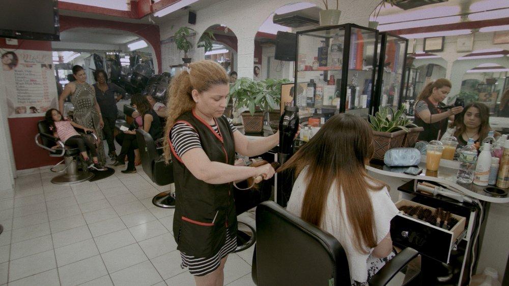 BEAUTY SALON EXTRAS : Magal Paulino, Maria Madra, Rosa Bella, Sahara Prada, Ali Ahn (LIBBY), Yadiris Marte, Yary Nin   Filmed at:    M&L Beauty Salon    in Washington Heights.