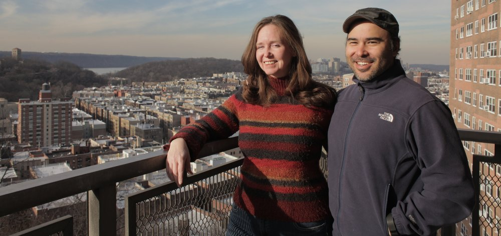ANYA filmmakers,  Carylanna Taylor  and  Jacob Okada , at home in Washington Heights, NYC. You might recognize the view from a scene of LIBBY and MARCO planting seeds on the balcony. Photo by Jacob Okada.
