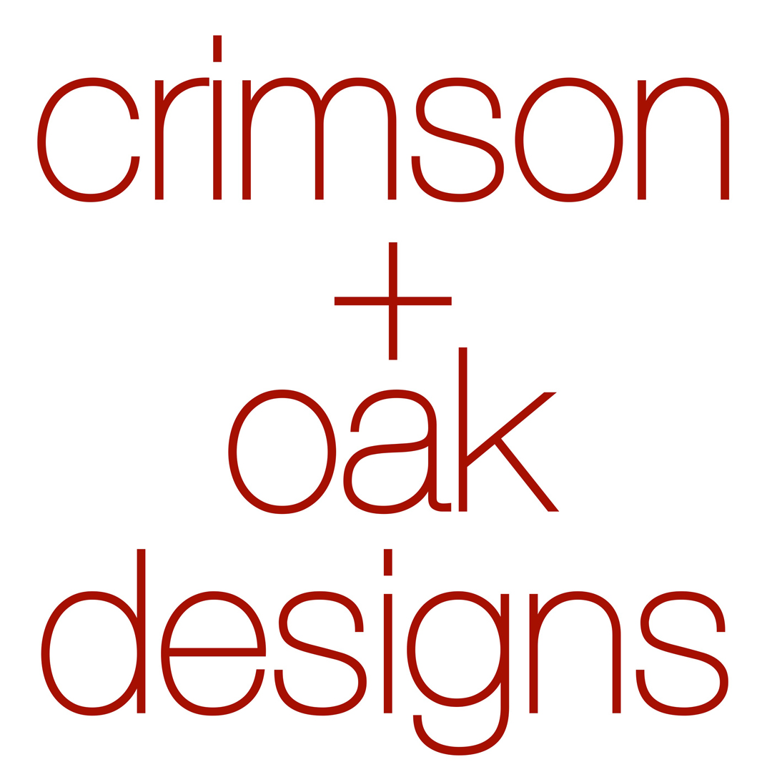crimson + oak designs