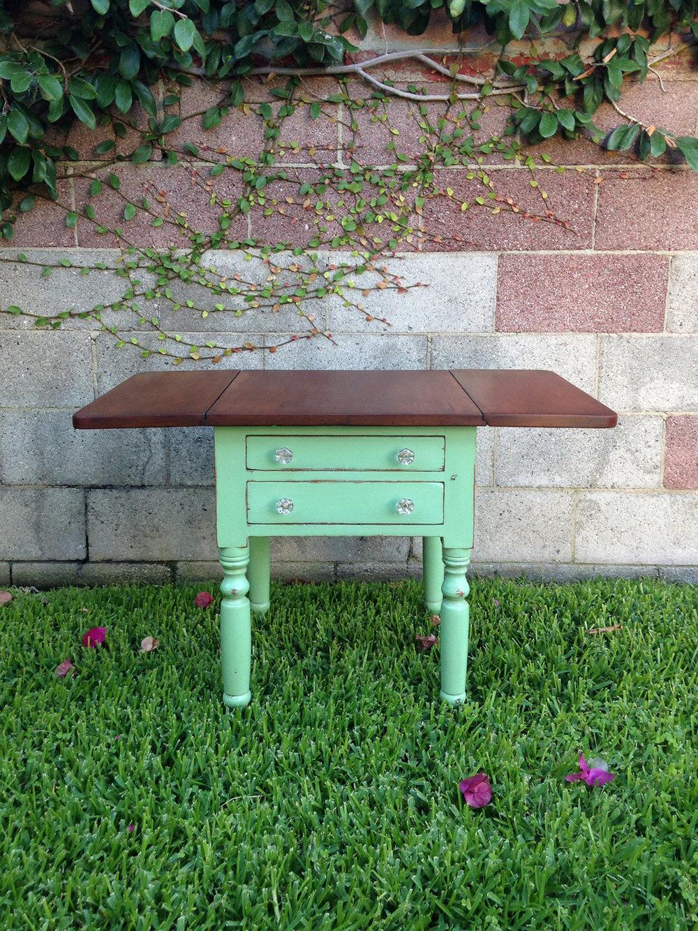 crimson + oak designs | mint chocolate drop leaf table 01.JPG