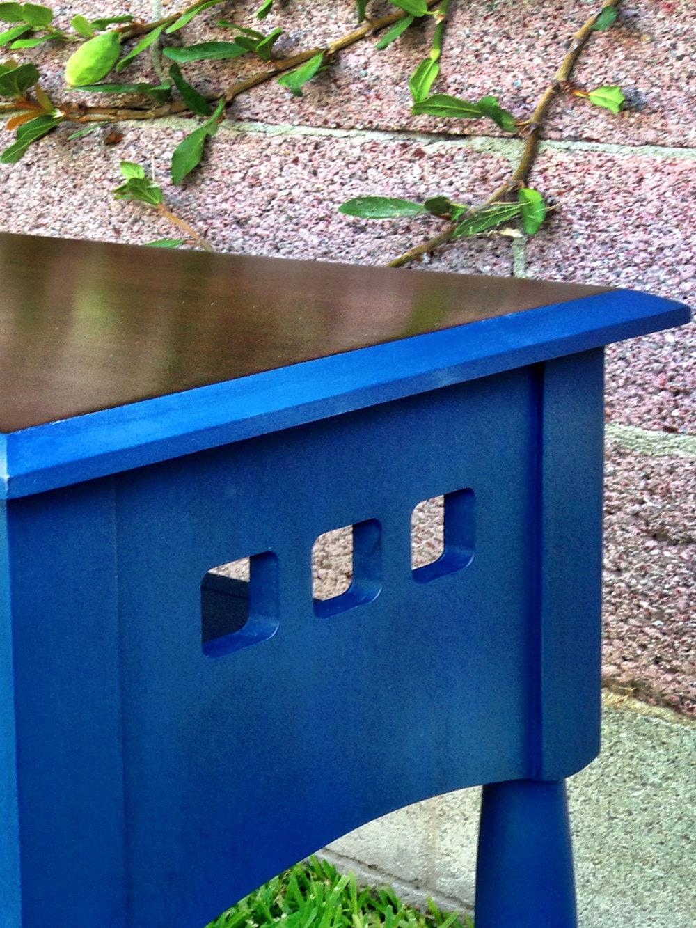 crimson + oak designs | bold blue end table 01.JPG