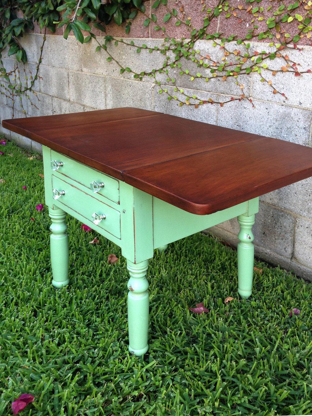 crimson + oak designs | mint choclate drop leaf table 03.JPG