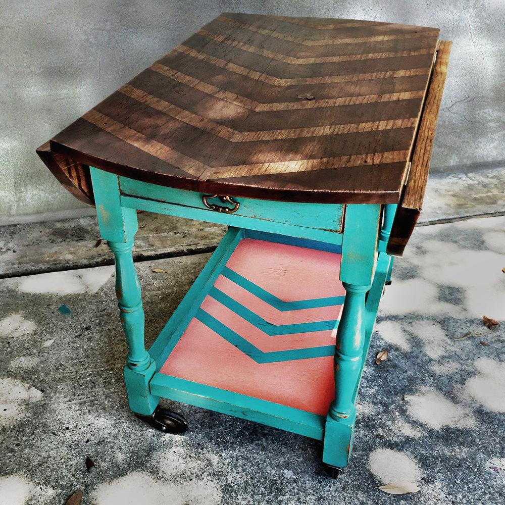 crimson + oak designs | chevron tea cart.jpg